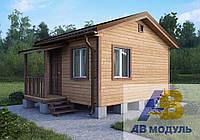 Каркасный дачный домик СМЕРЕКА-7