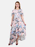 Летнее асимметричное платье 44-50 р ( разные цвета )