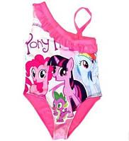 Сдельный купальник для девочки Литл пони, фото 1