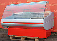 Холодильная витрина гастрономическая «Росс Siena» 1.8 м. (Украина), Широкая выкладка 73 см, Б/у, фото 1
