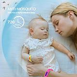 Браслет Чорного Кольору для Захисту від Комарів та Комах, фото 4