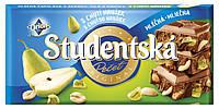 Шоколад молочний Studentska з грушею, горіхами і желе 180 г