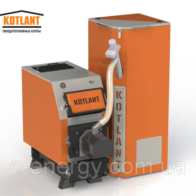 Котел пеллетный твердотопливный KOTLANT КВУ Pellets -50 кВт c горелкой OXI
