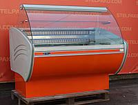 Холодильная витрина кондитерская «Технохолод» 1.3 м. (Украина), очень широкая выкладка 83 см, Б/у, фото 1