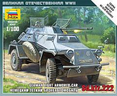 Сборная модель немецкой бронемашины Sd.Kfz 222.1/100 ZVEZDA 6157