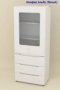 Шкаф с ящиками и витриной МС-21 МДФ Стиль