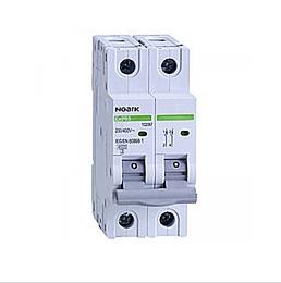 Автоматический выключатель Noark 6кА х-ка C 2А 2P Ex9BN 100121, фото 2