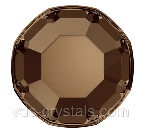 Кристаллы Сваровски клеевые для холодной фиксации 2000 Smoked Topaz (упаковка 1440 шт)