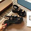 Сандалии Gucci с кристаллами и сетчатой отделкой