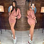 Женский стильный замшевый костюм с юбкой (в расцветках), фото 4