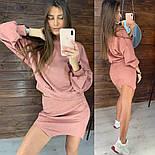 Женский стильный замшевый костюм с юбкой (в расцветках), фото 2