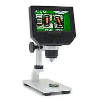 """Цифровой микроскоп для пайки G600+ с монитором (экраном) 4.3"""" на железном штативе 3.6 мегапикселя"""