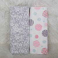 Набор из 2-х фланелевых пеленки 80*100см, пеленка фланеливая для новорожденного хлопковая мягкие