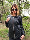 Куртка Кожаная Большой Размер Черная 073МК, фото 2
