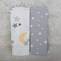Набор из 2-х фланелевых пеленки 80*100см, пеленка фланеливая для новорожденного хлопковая мягкая