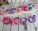 Резиночки для волос бантики с куклами LOL 10 пар/уп., фото 3
