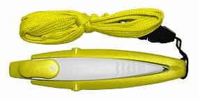 Ручка ber5489 пластиковая со шнурком, желтая, от 100 шт