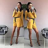 Женский стильный комбинезон шорты с поясом (в расцветках), фото 4