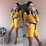 Женский стильный комбинезон шорты с поясом (в расцветках), фото 5