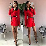 Женский стильный комбинезон шорты с поясом (в расцветках), фото 7