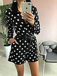 Женский стильный комбинезон шорты с поясом (в расцветках), фото 6