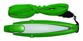 Ручка ber5489 пластиковая со шнурком, зеленая, от 100 шт