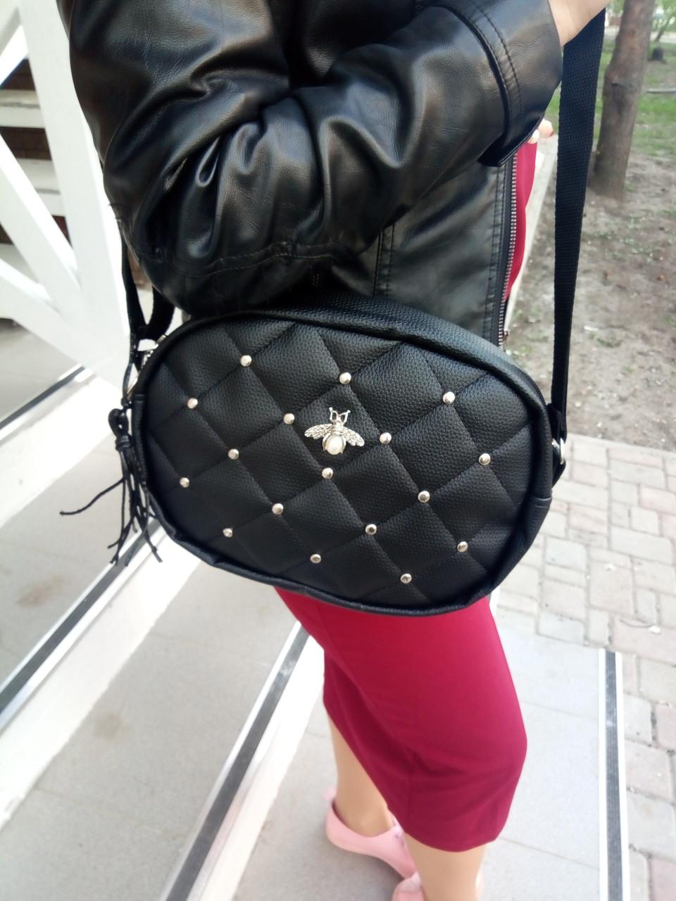 08c22addb123 Сумка женская маленькая черная, женский клатч черный Гучи копия - Pull  Store - Термосумки,