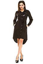 Платье без пояса 600 черное размер 44-46