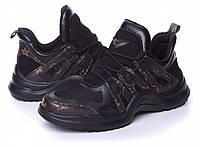 Женские кроссовки черные Витон, фото 1