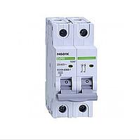 Автоматический выключатель Noark 6кА х-ка C 20А 2P Ex9BN 100129