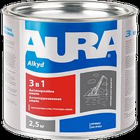 Антикоррозионная грунт-эмаль Aura 3 в 1