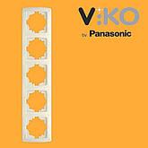П'ятірна вертикальна рамка VIKO Carmen, фото 2