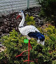 Садовая фигура Журавлик и Журавушка в гнезде на металлических лапах, фото 3