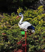 Садовая фигура Журавлик и Журавушка в гнезде на металлических лапах, фото 2