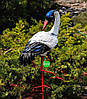 Садовая фигура Журавлик и Журавушка в гнезде на металлических лапах, фото 4