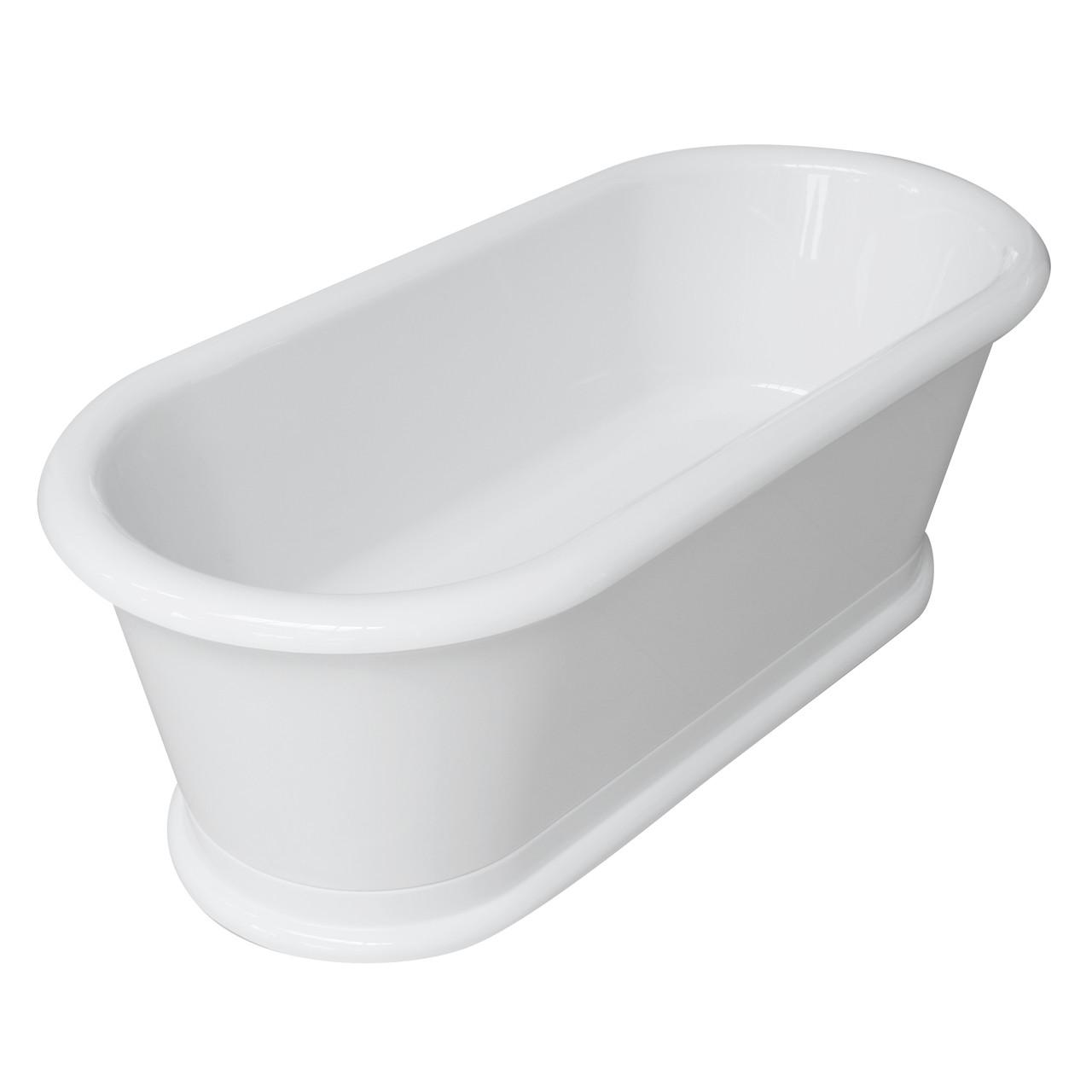 Ванна акриловая отдельностоящая Volle 180х85х63,5 с сифоном