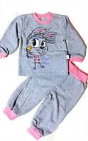 Пижама трикотажная на баечке Пеппи для девочки