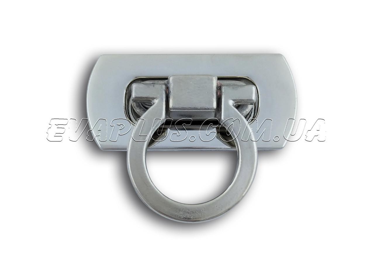 Барсеточный замок поворотный 41мм/19мм. (2150) никель