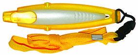 Ручка ber5489A пластиковая со шнурком, желтая, от 100 шт