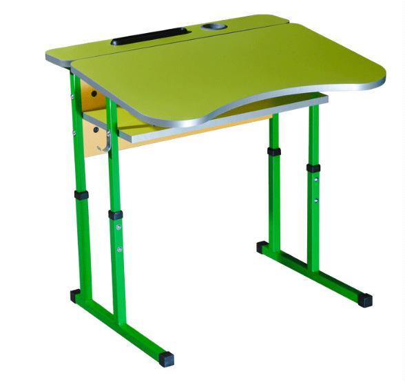 """Стіл учнівський 1-місний (№4-6) """"90136"""" жовтий-зелена вода"""
