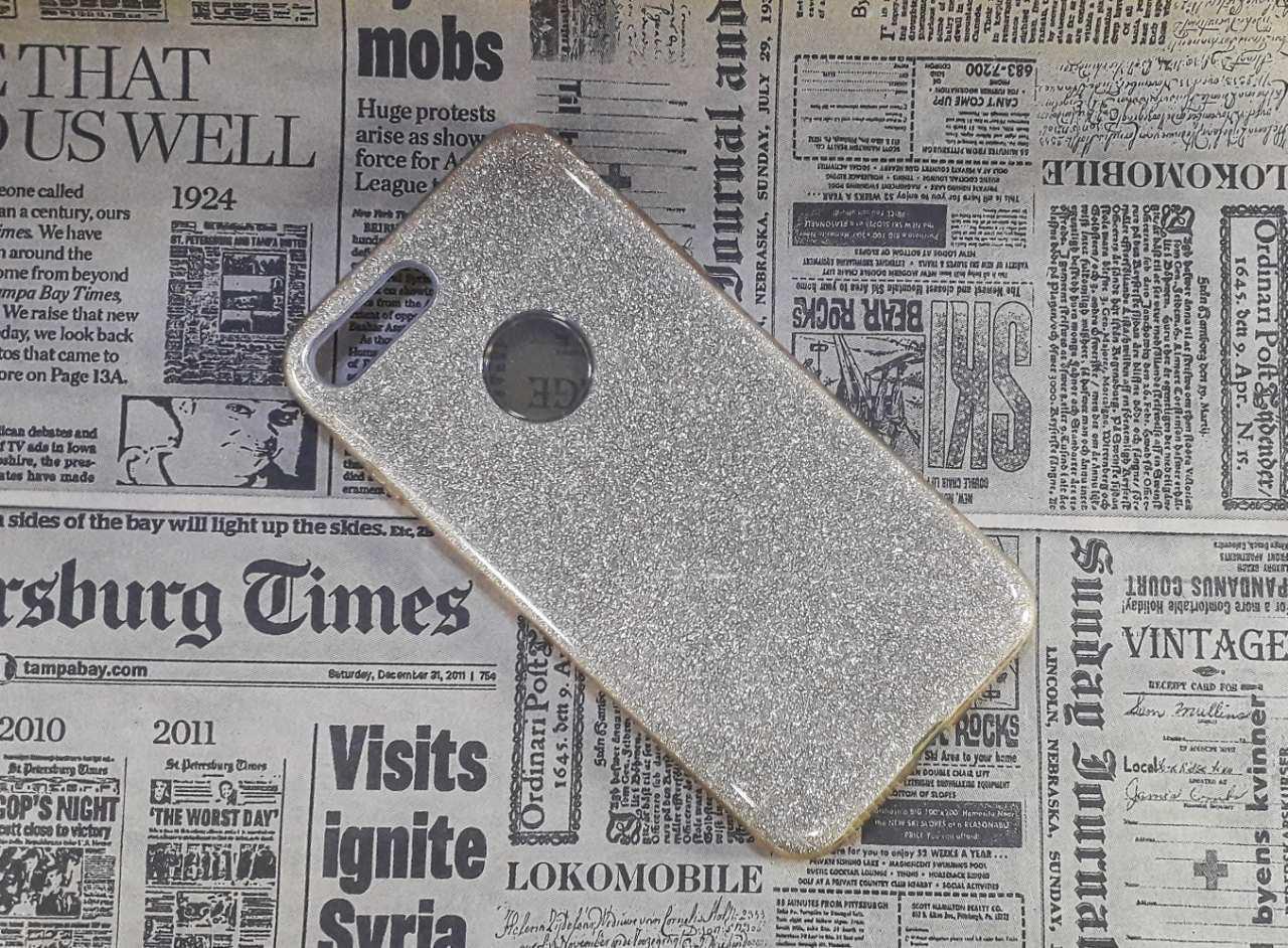 Чехол накладка Glitter на Iphone 7 Plus, Gold