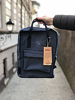 Рюкзак Fjallraven Kanken Classic (dark blue), рюкзак Канкен, синий портфель канкен, фото 1