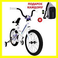 """Детский Двухколесный Велосипед 16"""" дюймов TitanBike Classic Econom White-Violet-Blue для девочки, для мальчика"""
