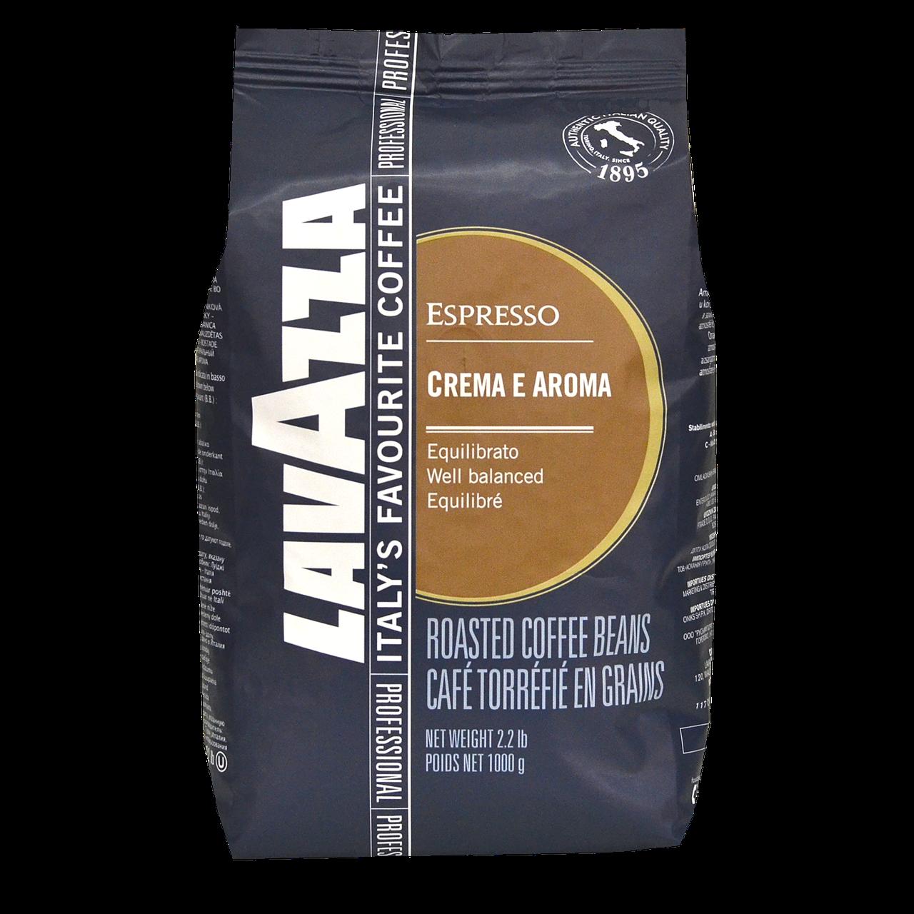 Кава в зернах Lavazza Crema e Aroma Espreso 1kg 80/20 Original