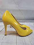 Желтые туфли лодочки, фото 3