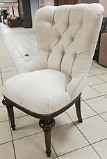 """Крісло на дерев'яних ніжках в замшевій оббивці """"Деко"""", фото 3"""