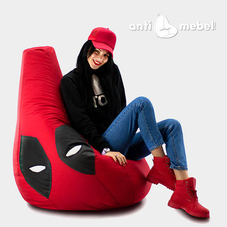 Кресло мешок груша Дэд Пул 90*130 см, фото 2