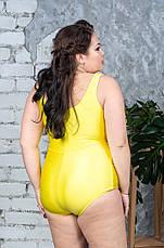 Сдельный купальник для полных Таисия желтый, фото 2