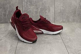Кроссовки G 3074 -7 (Nike Air Max 270) (весна/осень, женские, текстиль, бордовый)