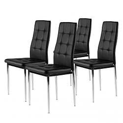 Набор из 4 стульев для кухни и бара GoodHome DC858 черный (8005-4)